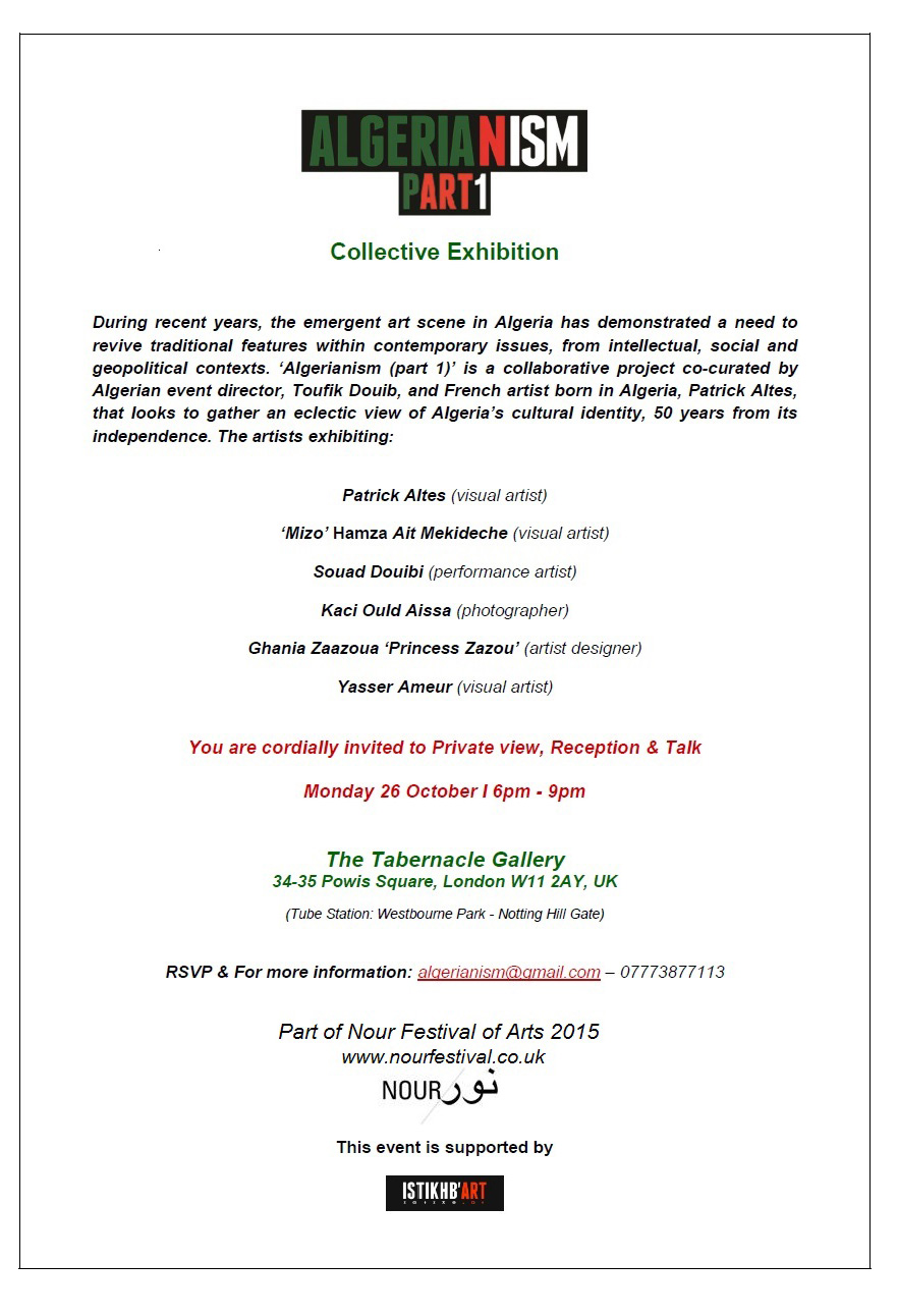 Algerianism Private View verso